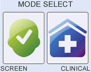 Easy-to-use one key screening or clinical setup