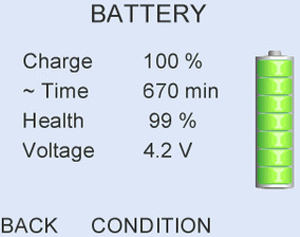 Long battery life - up to 250 test cycles or one full working week