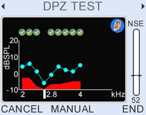 DP zoom focuses on a specific range of frequencies in high resolution (up to 16 pts/oct) to explore details